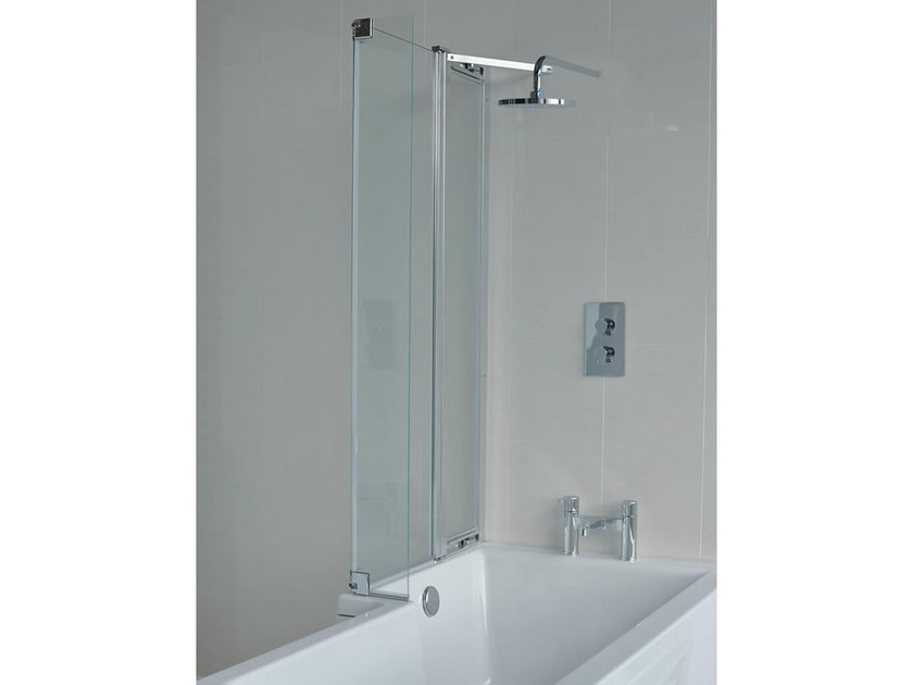 Glass bathtub wall panel CLEARGREEN - ECOSUQARE BS9 by Polo