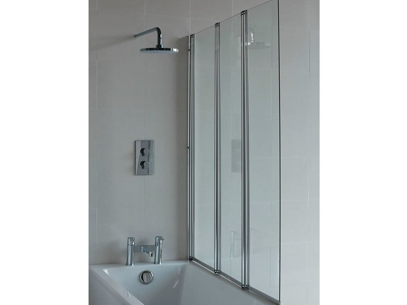 Folding glass bathtub wall panel CLEARGREEN - BS4 by Polo