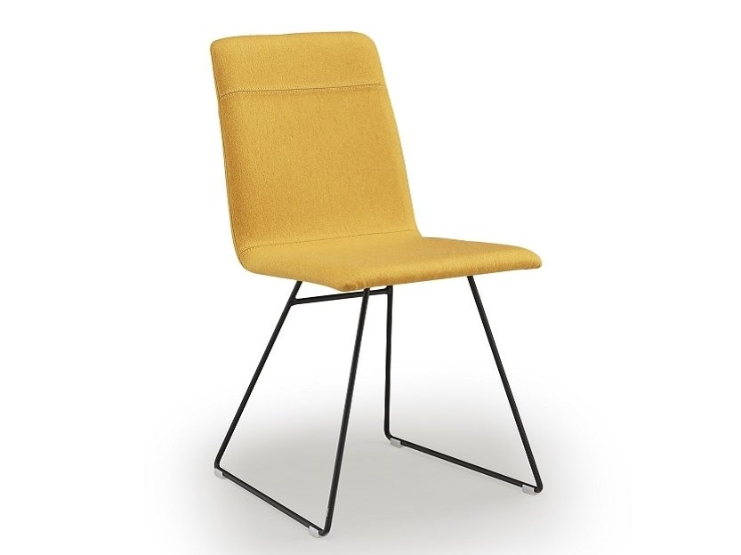Sled base upholstered chair CLEO | Sled base chair by Natisa