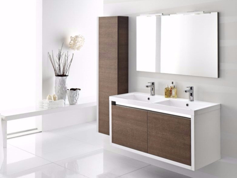 Laminate bathroom cabinet / vanity unit CLEVER - Composizione 2 by INDA®