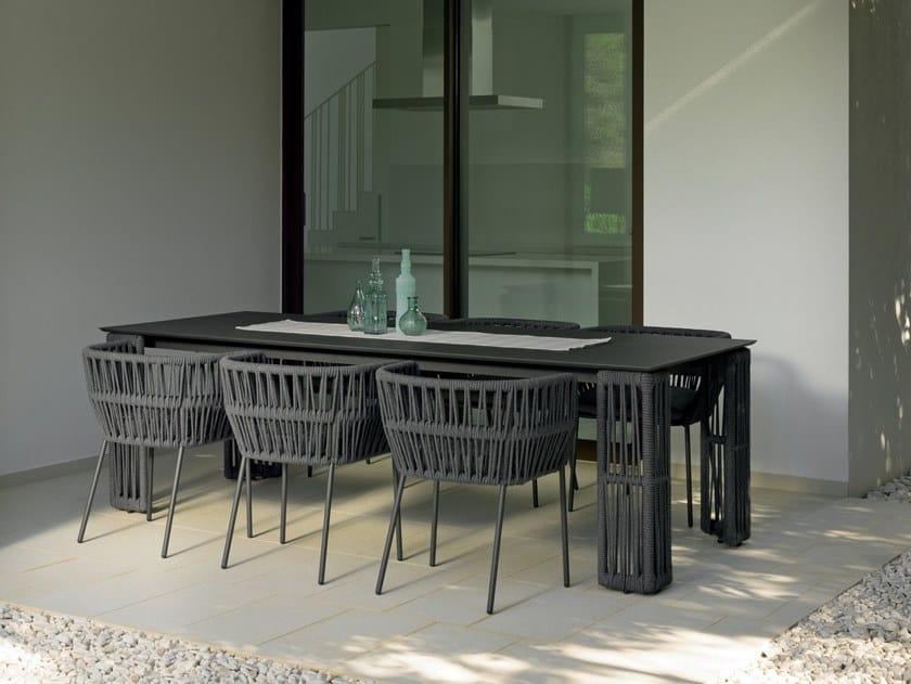 Rectangular garden table CLIFF | Rectangular table by Talenti