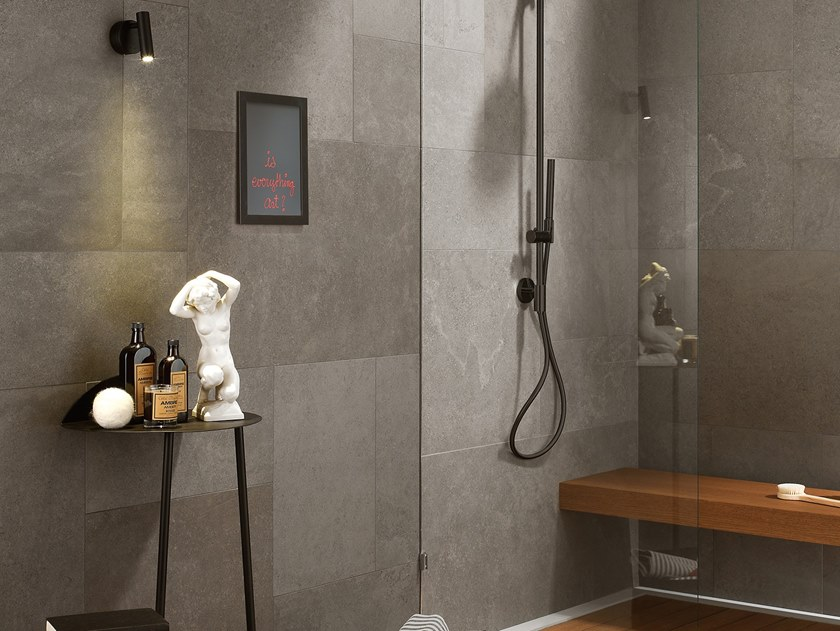 Antibacterial wall/floor tiles with stone effect CLIFFSTONE GREY TENERIFE by LEA CERAMICHE