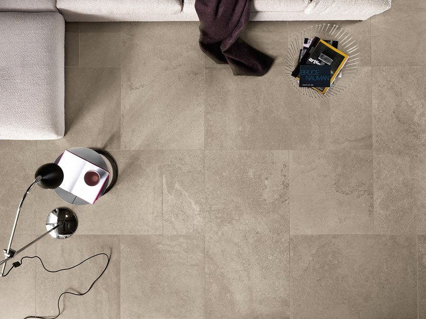 Antibacterial wall/floor tiles with stone effect CLIFFSTONE by LEA CERAMICHE