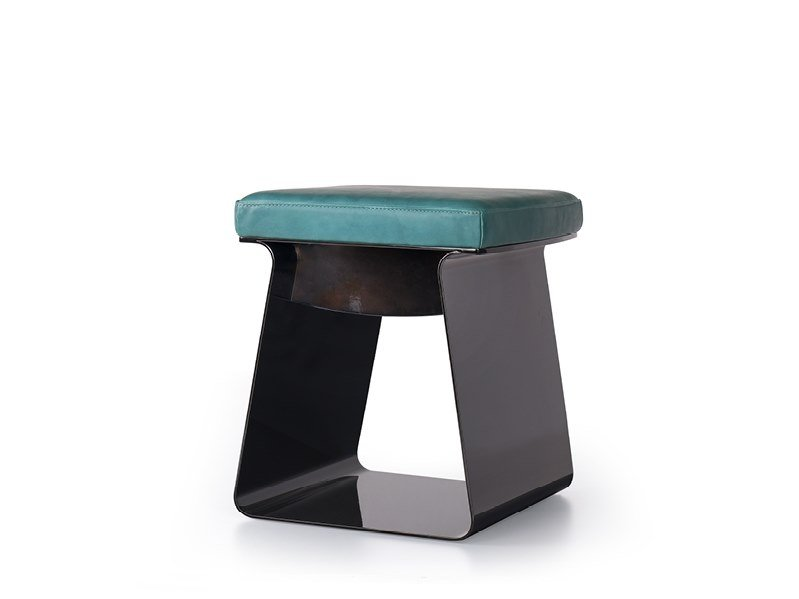 Low stool with integrated cushion CLIO by Borzalino