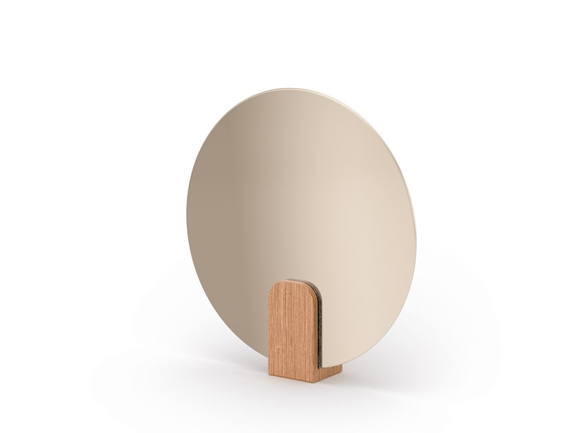 Countertop round or oval mirror CLIP   Mirror by SCULPTURES JEUX