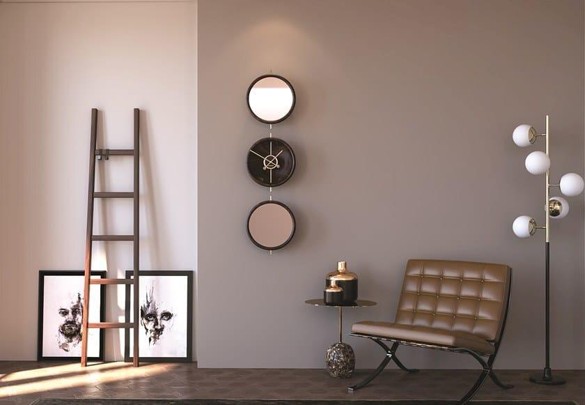 Wall-mounted walnut clock SHAPE | Clock by Materium