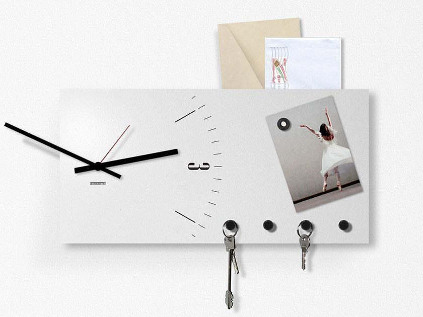 Orologio / lavagnetta CLOCK&MORE by Designobject.it