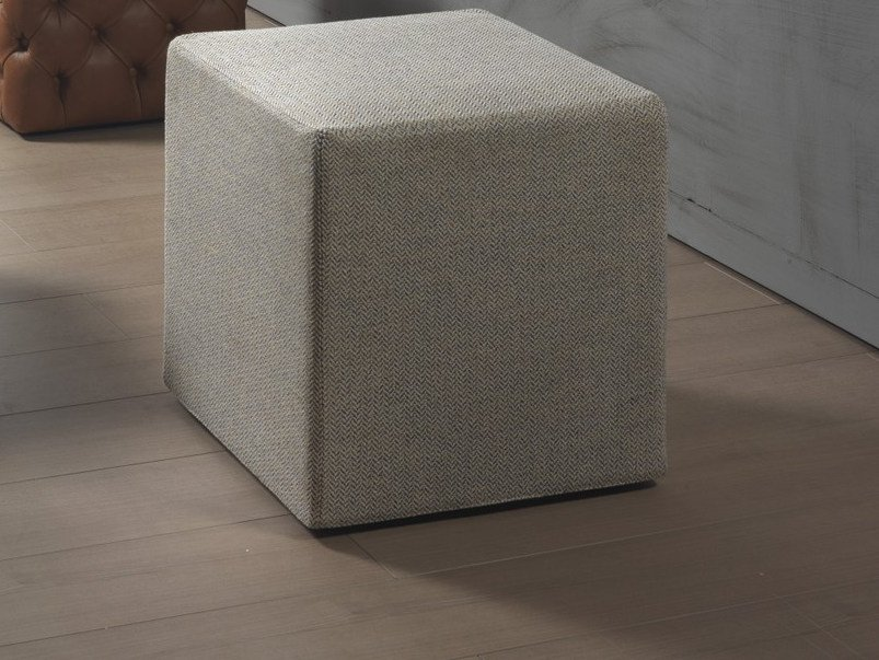 Upholstered fabric pouf CLOD   Fabric pouf by Pacini & Cappellini