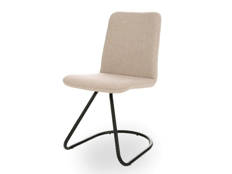 Cantilever upholstered fabric chair CLOE 1 by Pointhouse