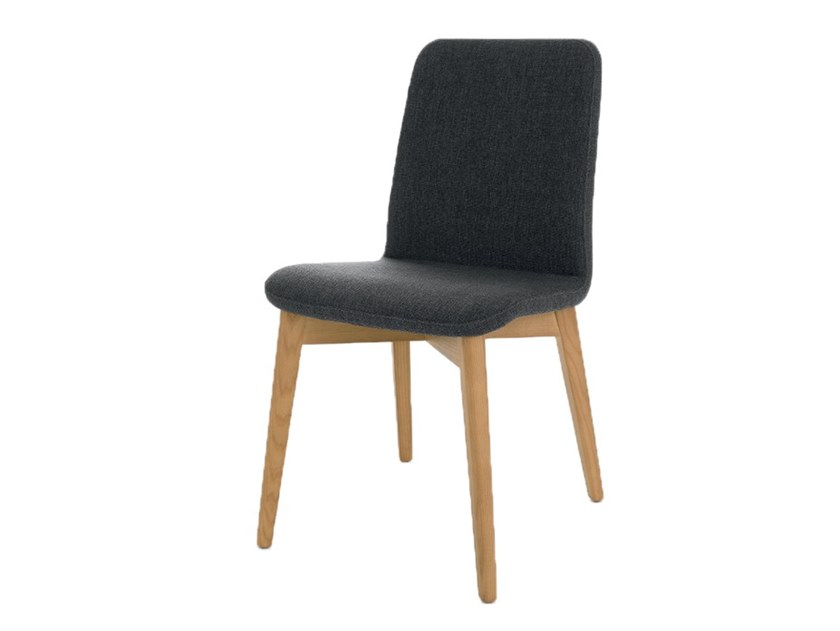 Upholstered fabric chair CLOE 5 by Pointhouse