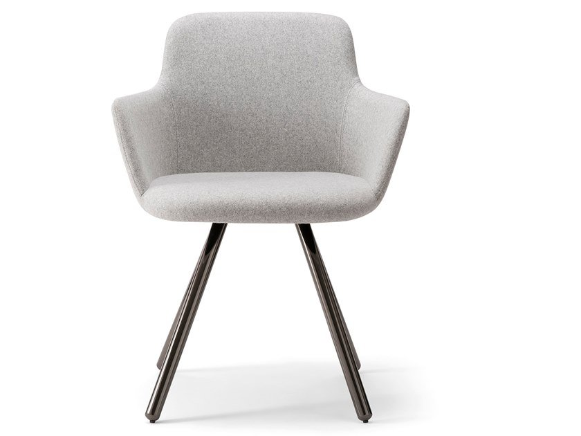 Upholstered chair with armrests CLOE' ARMCHAIR | Chair with armrests by Verti