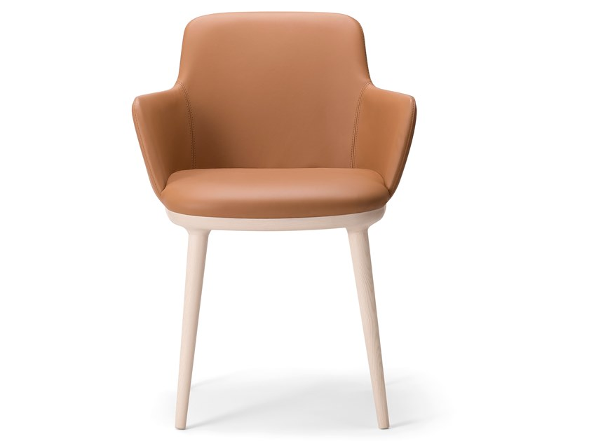Upholstered chair with armrests CLOE' ARMCHAIR by Verti