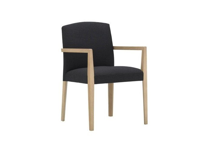 Upholstered fabric chair with armrests CLOÉ SO7019 by Andreu World