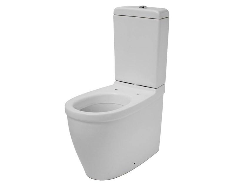 Close coupled Vitreous China toilet EVERY 44 | Close coupled toilet by EVER Life Design