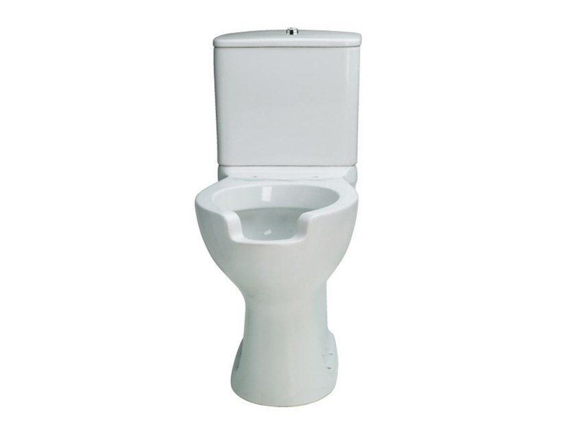 Close coupled Vitreous China toilet for disabled UNIKA | Close coupled toilet for disabled by Saniline
