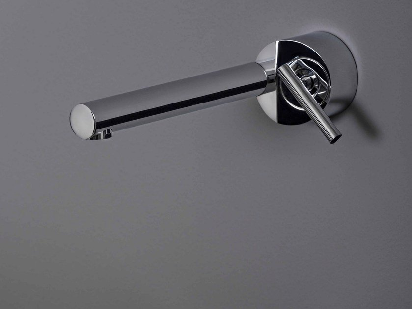 Wall-mounted 1 hole chromed brass washbasin mixer CLOSER | Wall-mounted washbasin mixer by ZUCCHETTI