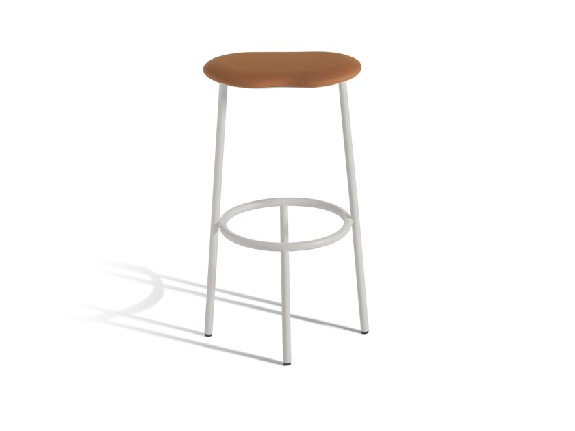 High steel stool with integrated cushion CLOUD 400T by Capdell
