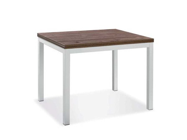 Square melamine-faced chipboard table CLOVER by CREO Kitchens