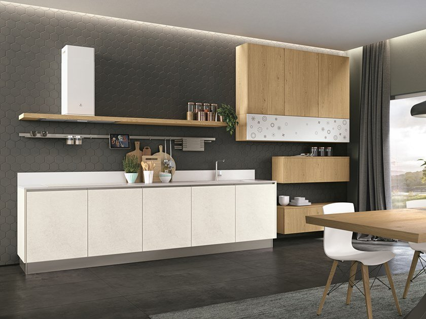 Fitted kitchen CLOVER NECK 1 by Cucine Lube