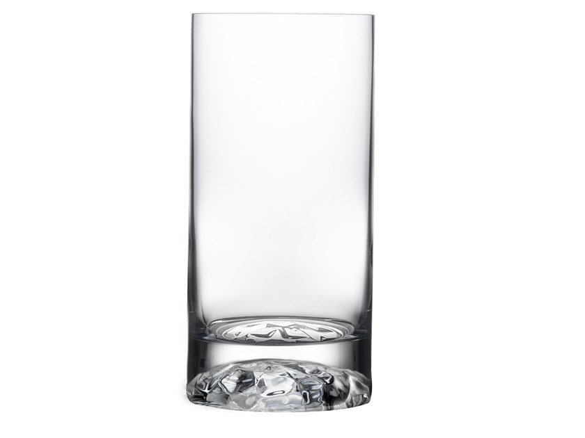 Set of 4 High Ball Glasses Medium with Ripple Effect CLUB M by NUDE