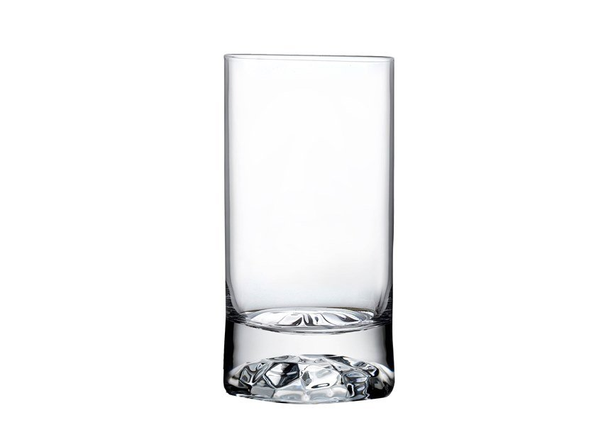 Set of 4 High Ball Glasses Small with Ripple Effect CLUB S by NUDE