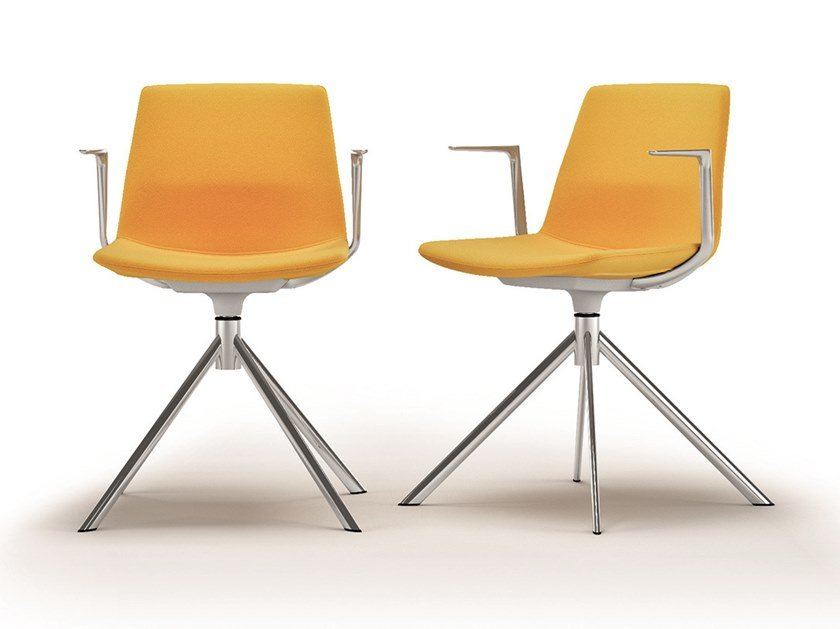 Trestle-based chair with armrests CLUE | Chair with armrests by Quadrifoglio