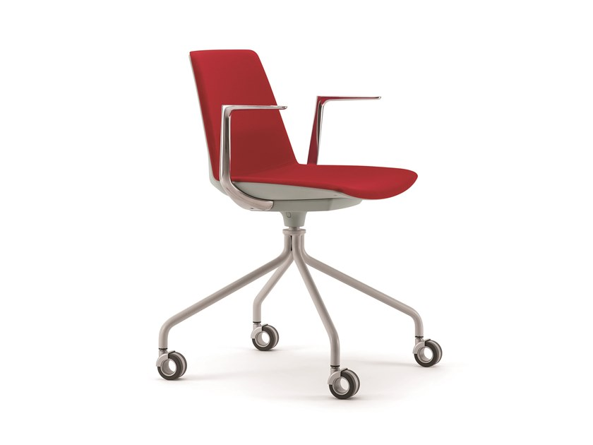 Fabric chair with 4-spoke base with casters CLUE | Fabric chair by Quadrifoglio