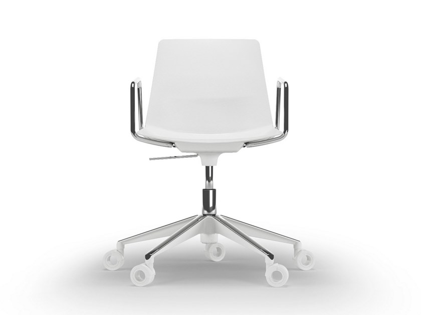 Chair with 5-spoke base with casters CLUE | Swivel chair by Quadrifoglio