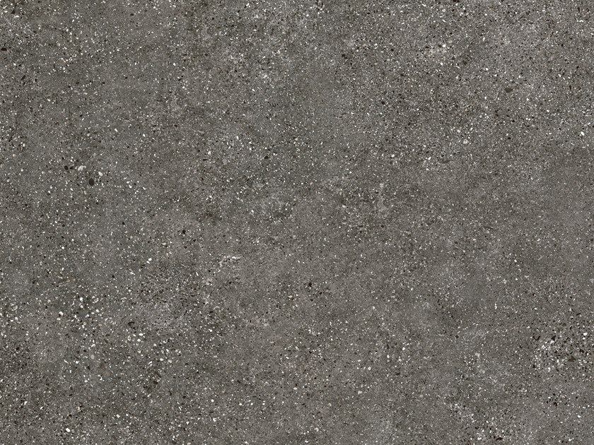 Indoor/outdoor porcelain stoneware wall/floor tiles with concrete effect CLUSTER DARK by FMG