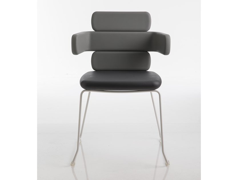 Sled base polyurethane garden chair CLUSTER | Garden chair by Luxy