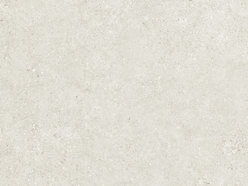 Indoor/outdoor porcelain stoneware wall/floor tiles with concrete effect CLUSTER WHITE by FMG