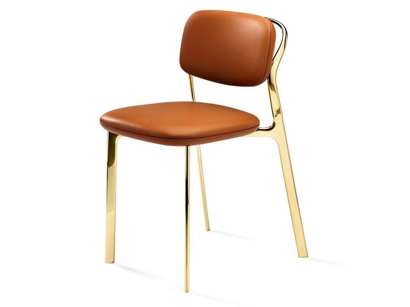 Sedia imbottita in pelle COAST | Sedia in pelle by GHIDINI1961
