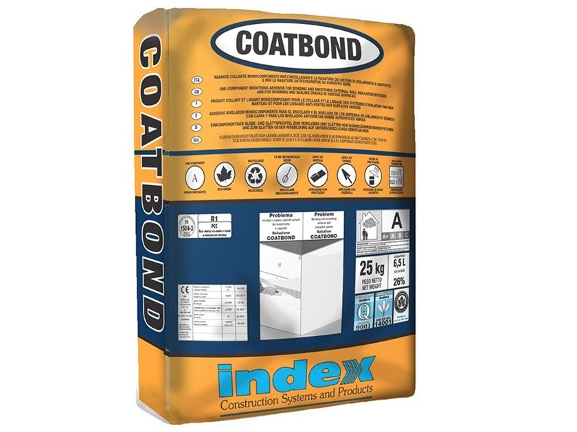 Collante rasante da cappotto ad alte prestazioni COATBOND by INDEX