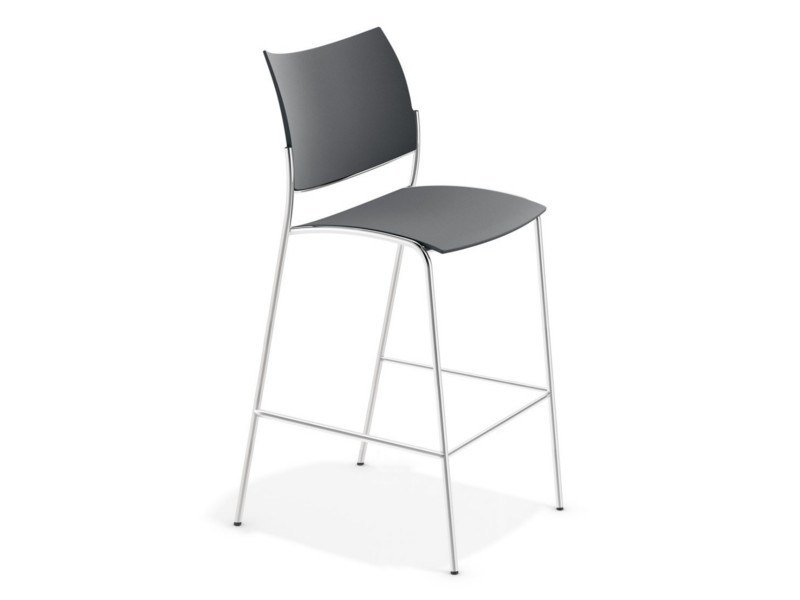High stool with footrest COBRA BARSTOOL   Stool by Casala