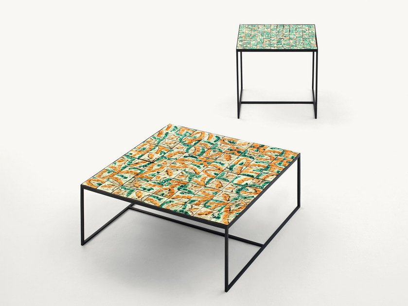 Faïence garden side table COCCI by paola lenti