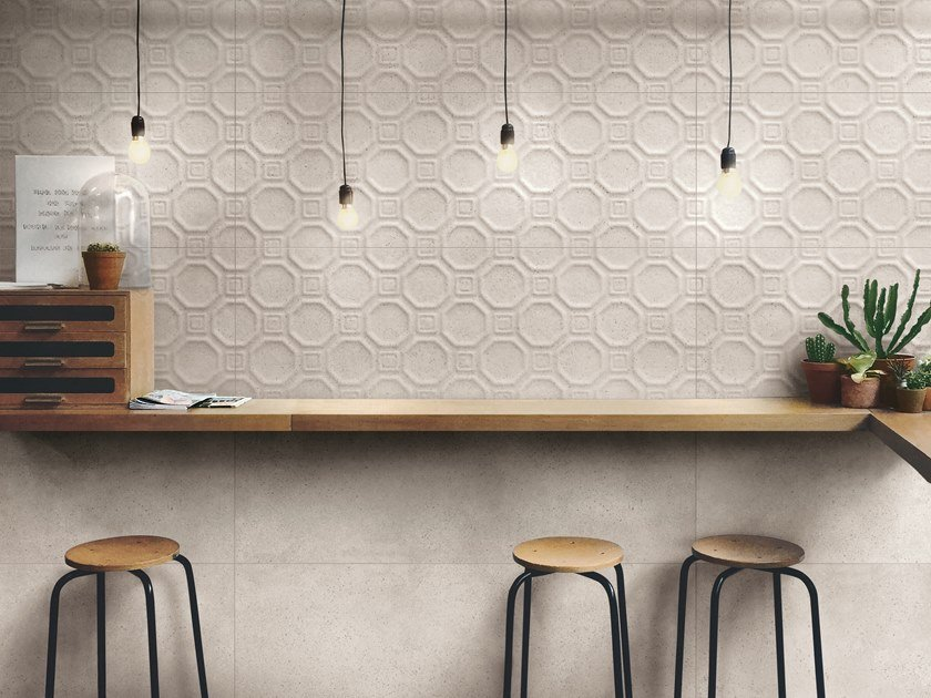 Indoor white-paste 3D Wall Tile COCCIOPESTO | 3D Wall Tile by Ragno