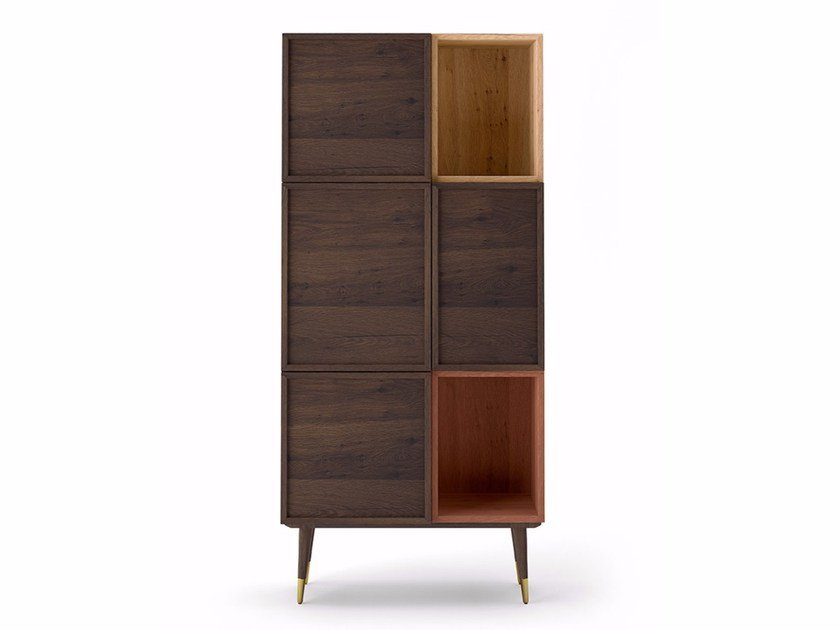 Oak highboard with doors COCÒ 012 | Highboard by Callesella Arredamenti