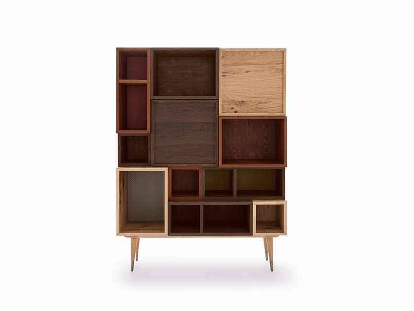 Oak highboard with doors COCÒ 014 | Highboard by Callesella Arredamenti
