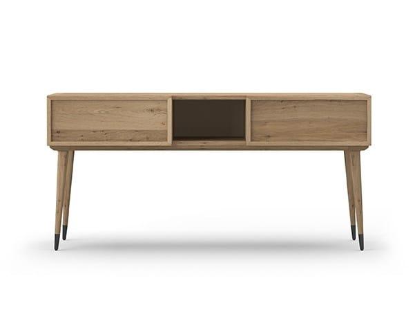 Rectangular oak console table COCÒ 025/2 | Console table by Callesella Arredamenti