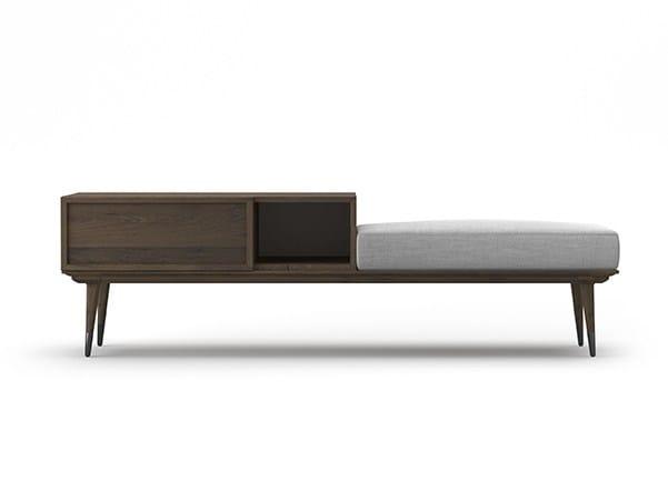 Storage oak bench COCÒ 040 | Bench by Callesella Arredamenti