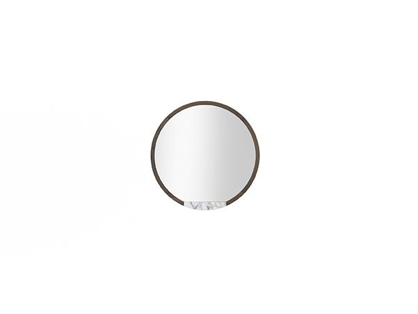 Round wall-mounted framed mirror COCÒ 050 | Mirror by Callesella Arredamenti