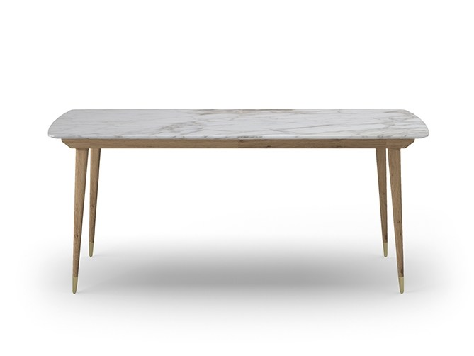 Rectangular marble table COCÒ 060 | Table by Callesella Arredamenti