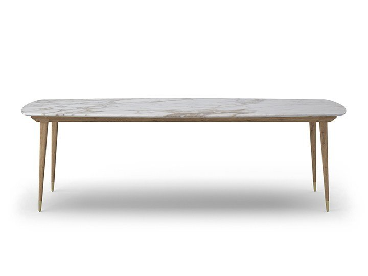 Rectangular marble table COCÒ 061 | Marble table by Callesella Arredamenti
