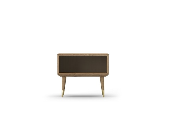 Rectangular oak bedside table COCÒ 070 | Bedside table by Callesella Arredamenti