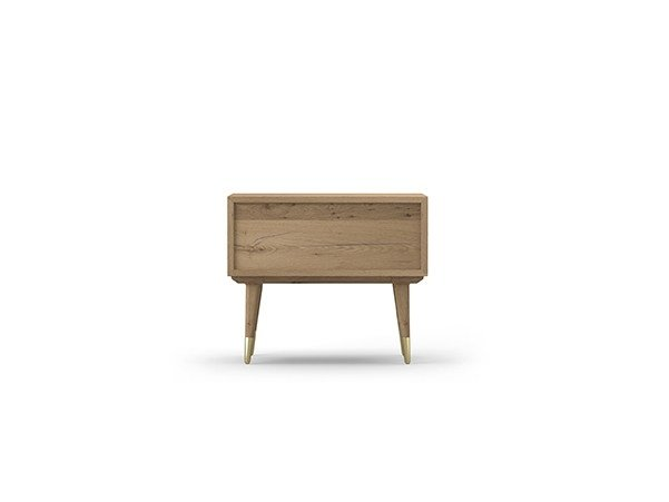 Rectangular oak bedside table COCÒ 075/1 | Bedside table by Callesella Arredamenti