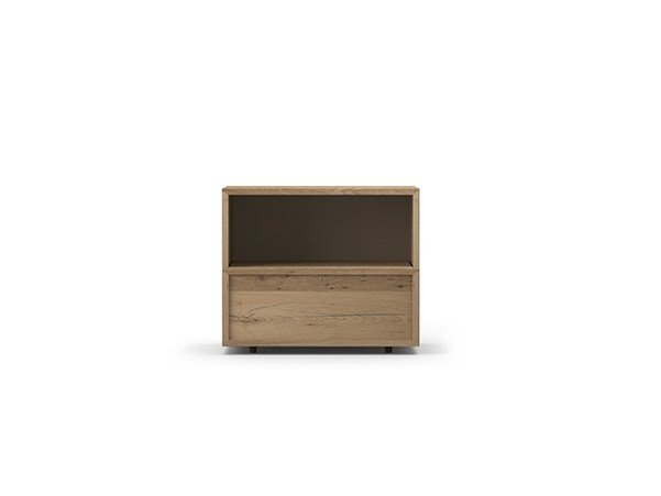 Rectangular oak bedside table with drawers COCÒ 078/1 | Bedside table by Callesella Arredamenti