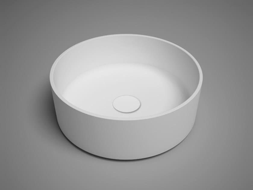 Countertop round blu∙stone™ washbasin COCO | Round washbasin by Blu Bathworks®