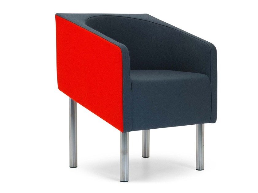 Upholstered guest chair with armrests COCODÌ LOW | Armchair by Adrenalina