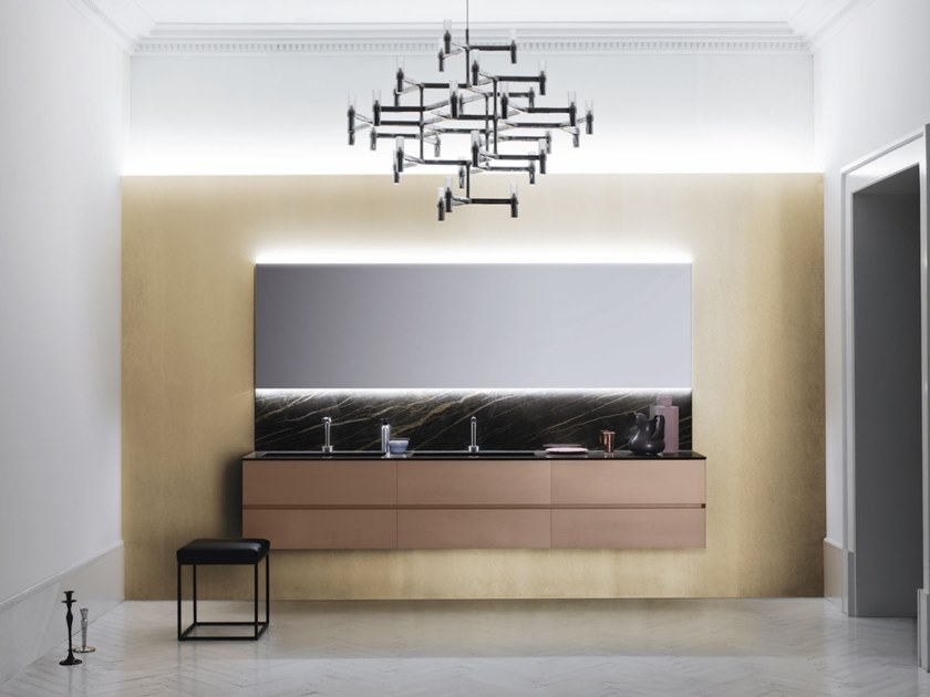 Wall-mounted vanity unit with drawers CODE 08 by Arbi Arredobagno