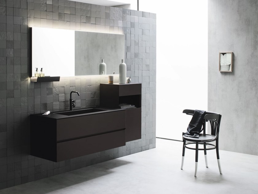 Wall-mounted vanity unit with drawers CODE 11 by Arbi Arredobagno